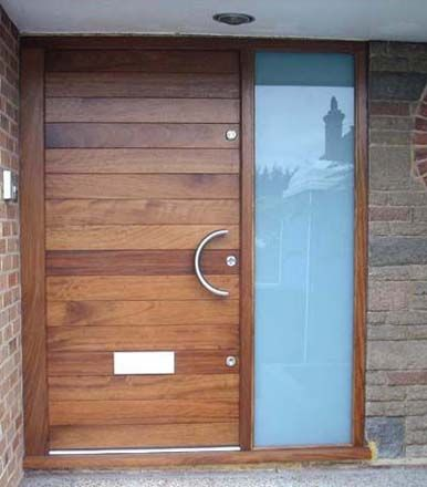 Building a sapele entry door with glass panels for Front door frame designs