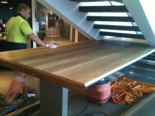 Building A Solid Oak Bar Top