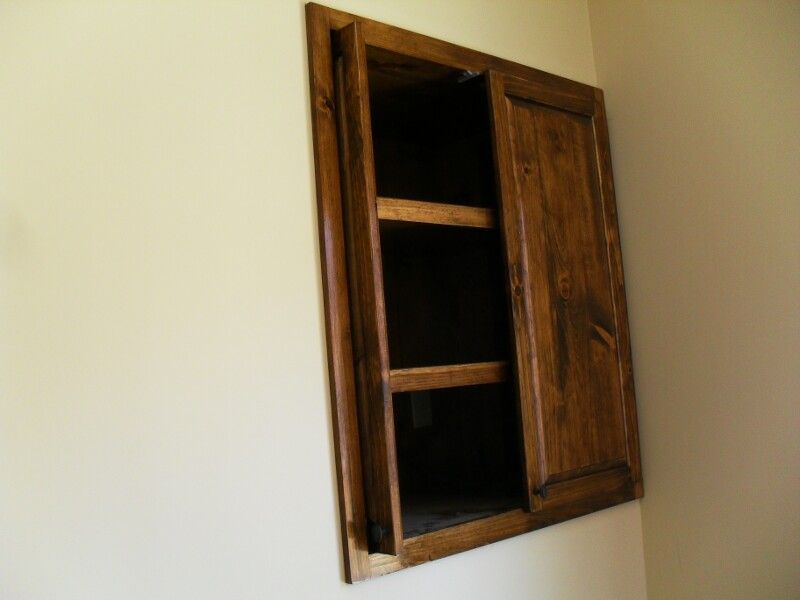 Cabinet Pocket Doors and Adjustable Shelves