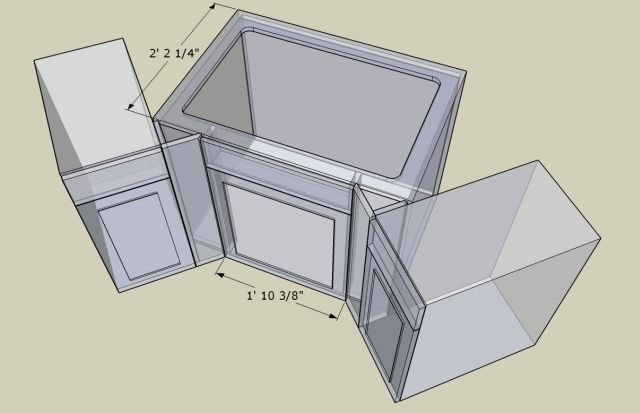 Corner Kitchen Sink Base Unit : Click here for higher quality, full size image