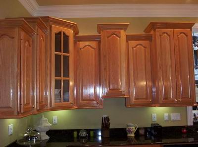 This Picture Does A Good Job Of Illustrating The Depth Difference Needed  For Crown Molding When Cabinet Height Varies .