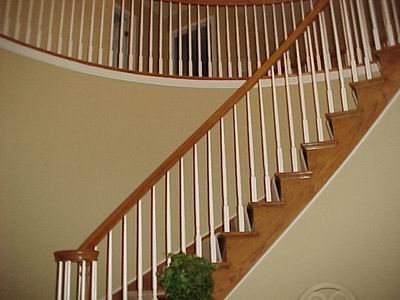 Another Issue That Came Up Was Where The Chair Rail Is Going To Die Into  The Molding At The Top Of The Stairs. Inverted Base Was Used To Conceal The  Edge Of ...