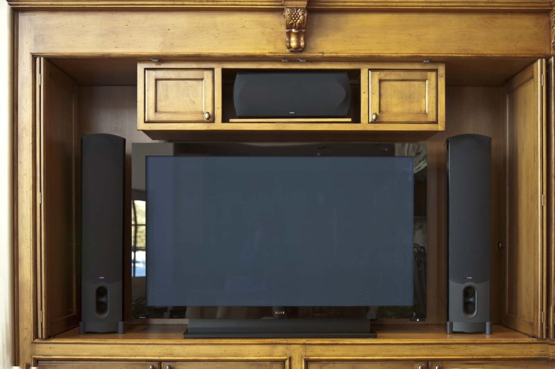 Click here for higher quality full size image & Door Ideas for Wide-Screen TV Cabinets