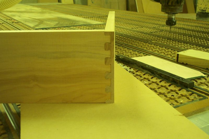 Making dovetail joints cnc router