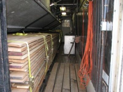 Drying Wood In A Shipping Container Kiln