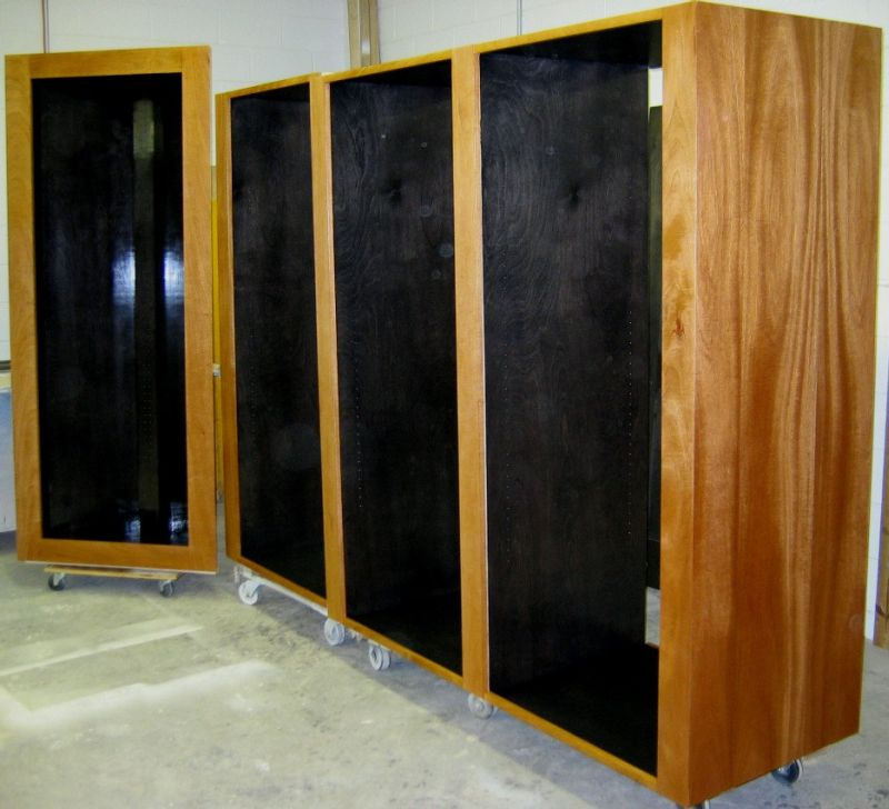 and here is an example of some ebonized oak and walnut compared to