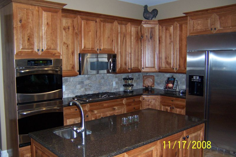 knotty wood kitchen cabinets