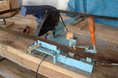 Home Built Band Blade Sharpener