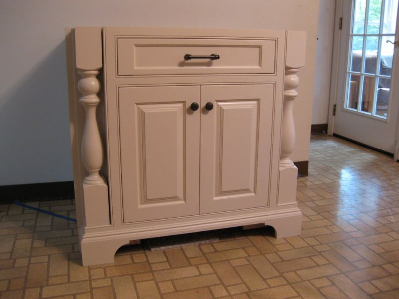 Ideas For Cabinet Feet, How To Add Furniture Legs Kitchen Cabinets