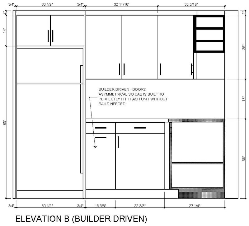 Kitchen Cabinet Dimensions: Fridge Cabinet Size