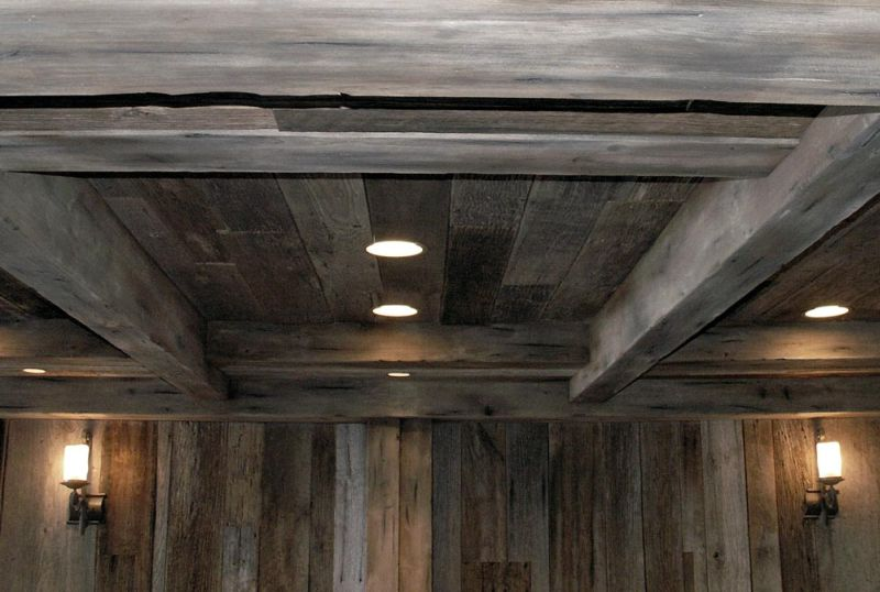 Painting Rough Cedar Ceiling Beams: Matching The Look Of Aged Barnboards