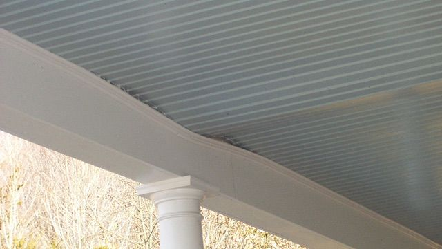 Moisture And Swelling Issues For A Porch Ceiling