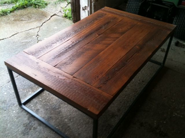 Natural Finish For Barnwood Table Top - Salvaged wood table top