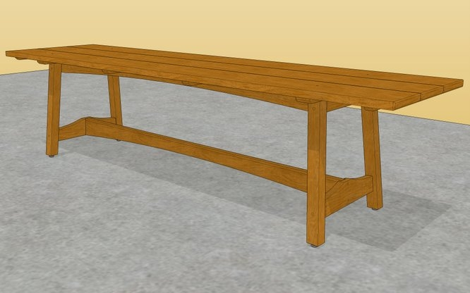 Geh access wooden table base plans
