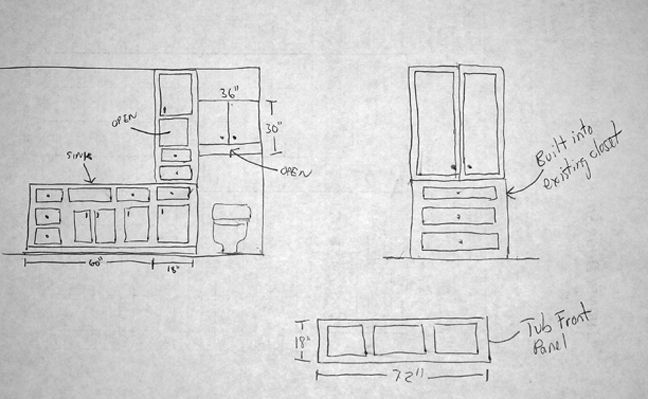 bathroom storage cabinets plans