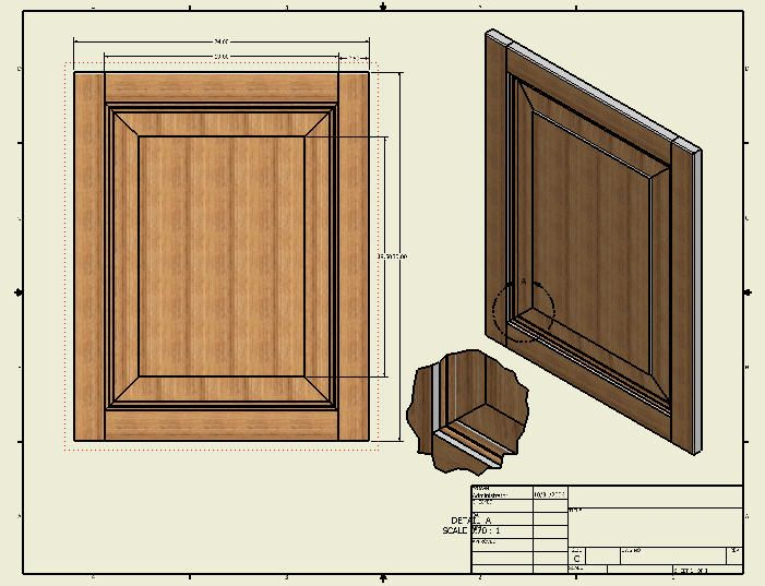 Realistic 3d Drawings Of Cabinet Doors Using Cad