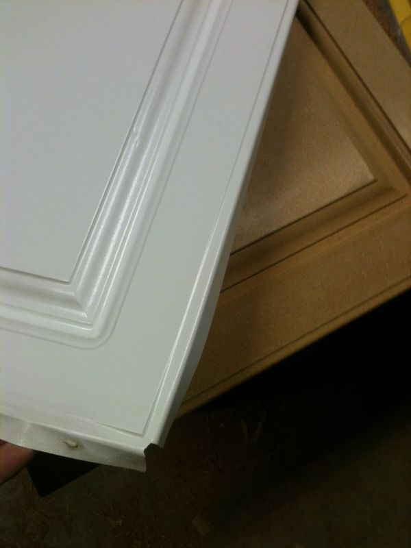 Refinishing failed thermofoil doors for Can you paint thermofoil kitchen cabinets