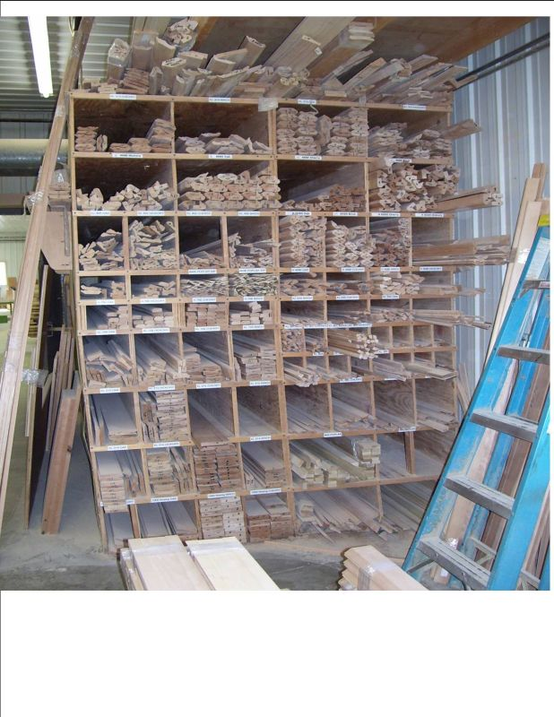 Storing Moulding Stock