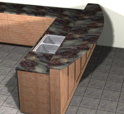 Countertop Overhang : Supporting an Overhanging Granite Countertop
