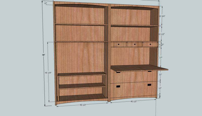 Tambour Doors For A Media Cabinet