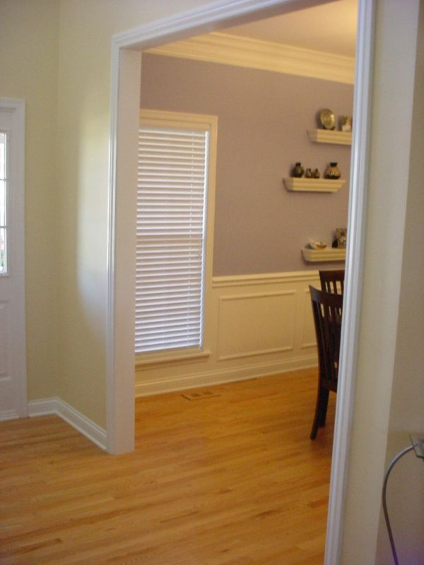 Terminating Waiscoting at an Uncased Opening on wainscoting wall with window, wainscoting at windows, wainscoting panels under windows, wainscoting ideas, wainscoting dining room with window,