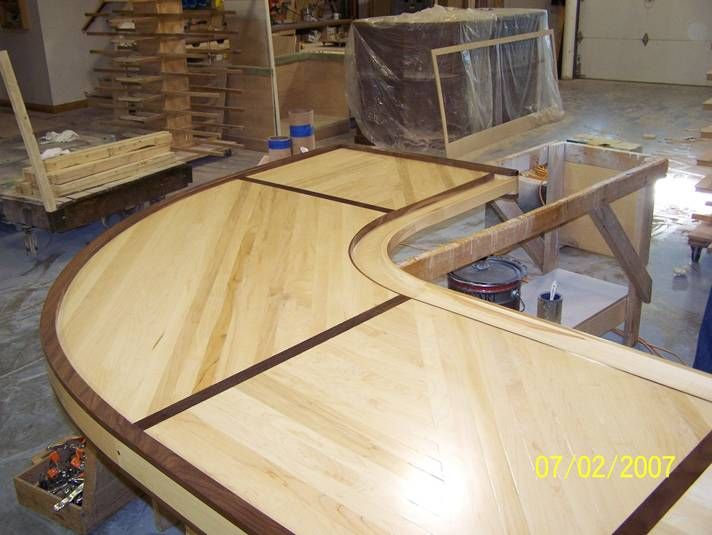 Bar Top Finishing : Wood movement and bar top finishing